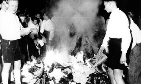 Nazi youth burns books in 1933