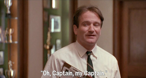 Dead Poets Society, John Keating names himself O-Captain-My-Captain