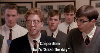 dead poets society seize the day speech
