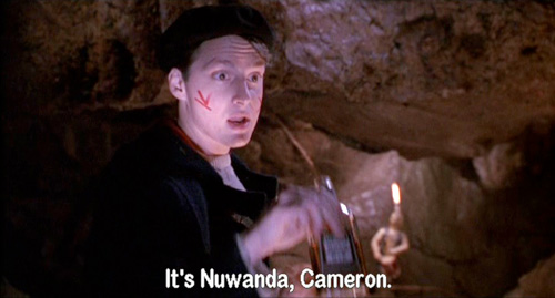 Dead Poets Society: Charlie Dalton reminds Richard Cameron that he has changed his name to Nuwanda