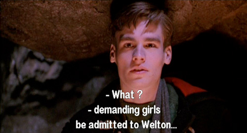 Dead Poets Society: Charlie Dalton describes how he published an article in the Welton Honor demanding girls be admitted to Welton 3/6