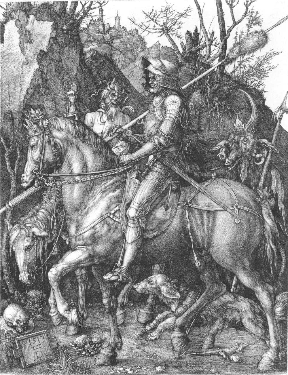 Dead Poets Society: Albrecht Durer Etching of Knight, Death, and the Devil