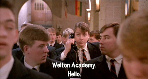 Dead Poets Society: Charlie Dalton receives a phone call from God 2/6