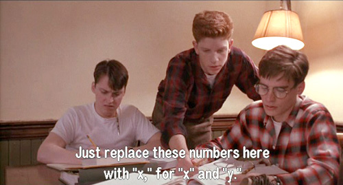 Dead Poets Society: Richard Cameron helps Charlie Dalton and Neil Perry in Trig