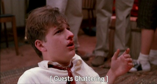 Dead Poets Society: Knox Overstreet gropes the sleeping Chris Noel