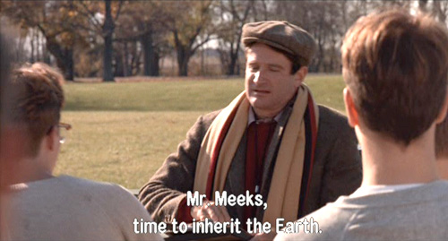 Dead Poets Society, John Keating further sneers at the name of Stephen Meeks