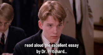 Dead Poets Society: Headmaster Nolan refuses to hear how all the Pritchard pages got ripped out