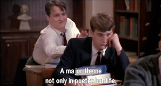 Dead Poets Society: Knox Overstreet reads his poem to the class during poetry workshop day 9/9