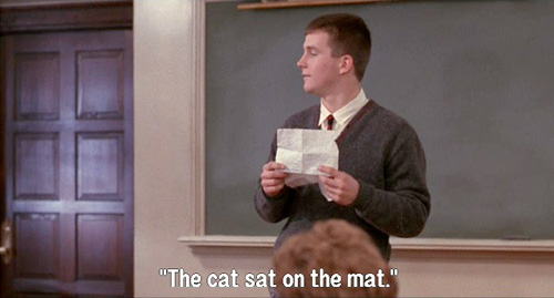 Dead Poets Society: Hopkins reads his poem, The Cat Sat On The Mat