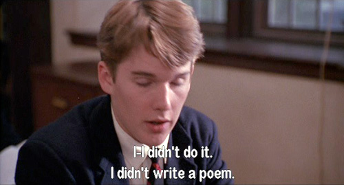 Dead Poets Society: Todd Anderson claims he didn't write a poem