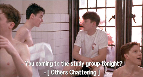 Dead Poets Society: Boys form study groups