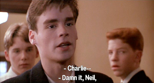 Dead Poets Society: Charlie Dalton reminds Neil Perry that he has changed his name to Nuwanda