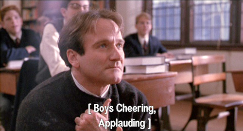Dead Poets Society: John Keating pushes Todd Anderson back down into the darkness 2/2