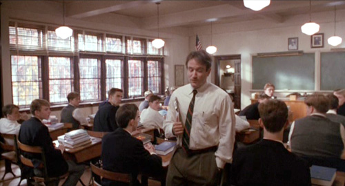 Dead Poets Society, John Keating establishes telepathic communication with his students