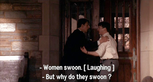 Dead Poets Society: Charlie Dalton tells Knox Overstreet that WOMEN SWOON