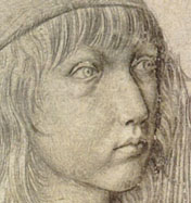 Albrecht Durer self portrait at age 13