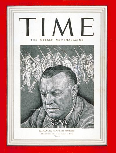 Kenneth Roberts on cover of Time Magazine
