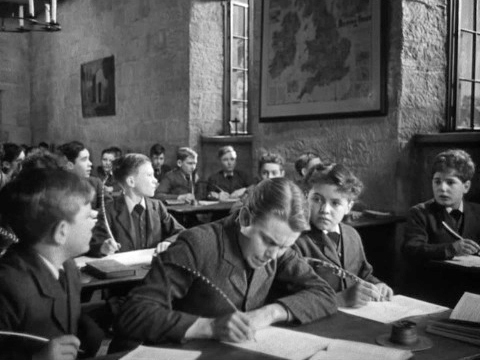Goodbye Mr Chips: The class sitting in detention can hear the cricket match being played outside