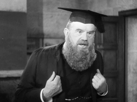 Goodbye Mr Chips: headmaster Dr Wetherby announces the collective punishment of flogging the entire class
